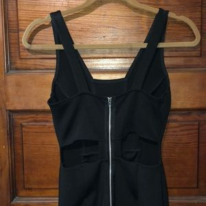 Topshop Dresses - Black mini dress with open back and front